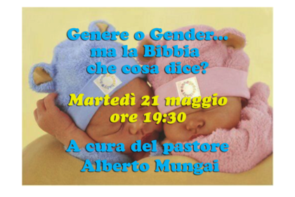 Studio: Genere o Gender... ma la bibbia che cosa dice?